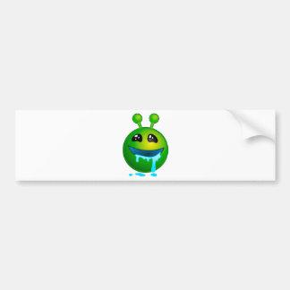 alien drooling bumper sticker