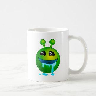 alien drooling coffee mug