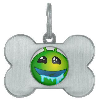alien drooling pet ID tag