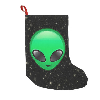 alien emojis xmas christmas stocking