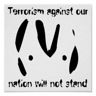 Alien emoticon 9/11 quotes poster