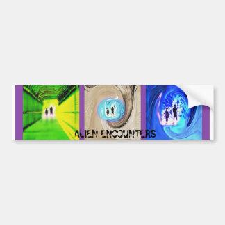 Alien Encounters Bumper Sticker