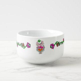 Alien Eyeball Floral Soup Mug