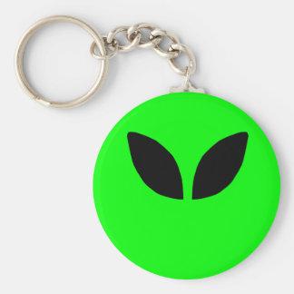 Alien Eyes Basic Round Button Keychain