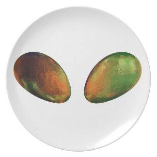 Alien Eyes Dinner Plate