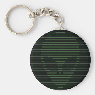 Alien face basic round button keychain