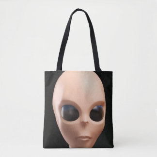 Alien Face Tote Bag
