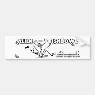 Alien Fishbowl sticker Bumper Sticker
