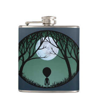 Alien Flask Alien Grey Drink Flasks Personalize
