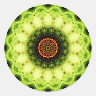 Alien Flower Mandala Classic Round Sticker