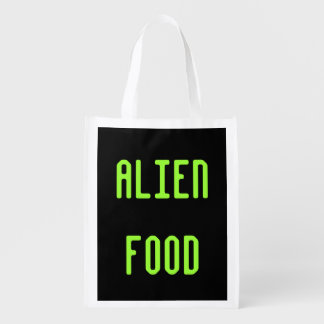 Alien Food Reusable Grocery Tote Bag Gift