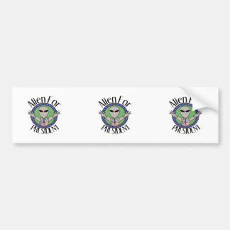 Alien For President Bumper Sticker