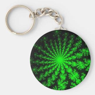 Alien Fractal Burst Keychain