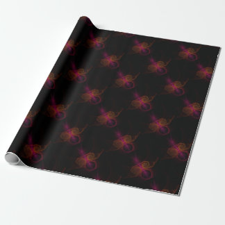 Alien fractal wrapping paper