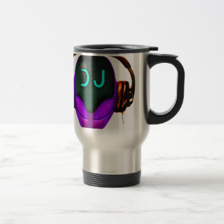 Alien Futuristic DJ thermo MUG (violet eyes)