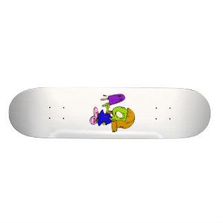 Alien Girl with Popsicle Skate Board