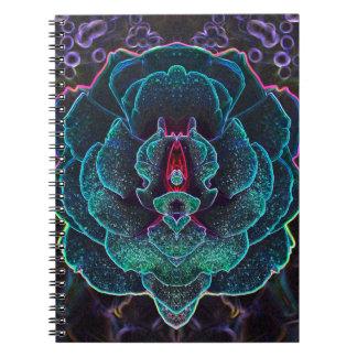 Alien Glowing Rose Notebook