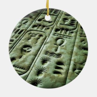 Alien Glyphs 02 Round Ceramic Ornament