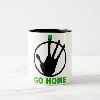 Alien go home Two-Tone coffee mug
