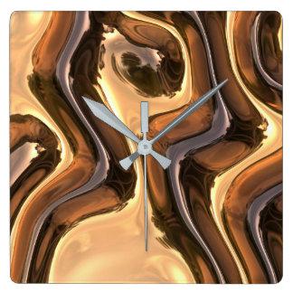 Alien Gold Designer Wall Clock by Julie Everhart