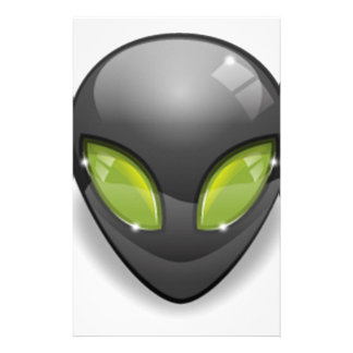 Alien Gray Design#2 Stationery