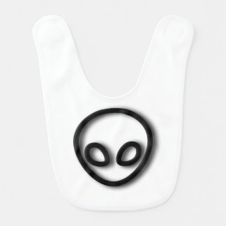 Alien Gray Design Baby Bib