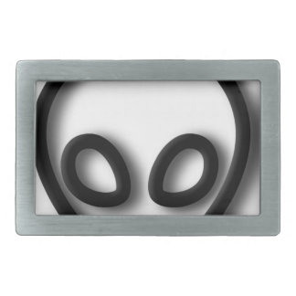 Alien Gray Design Belt Buckle