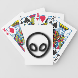 Alien Gray Design Bicycle Playing Cards