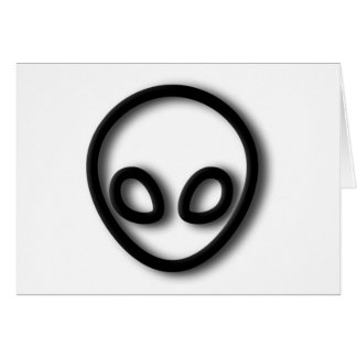 Alien Gray Design Card