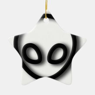 Alien Gray Design Ceramic Ornament