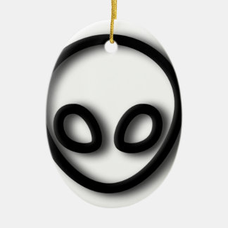 Alien Gray Design Ceramic Ornament