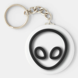 Alien Gray Design Keychain