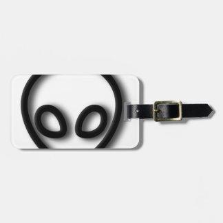 Alien Gray Design Luggage Tag