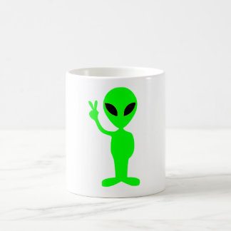 ALIEN GREEN COFFEE MUG