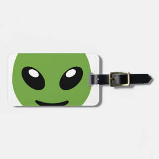 Alien Green Space Luggage Tag