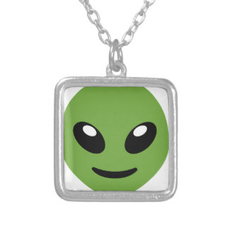 Alien Green Space Silver Plated Necklace