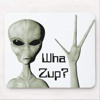 Alien greeting mouse pad