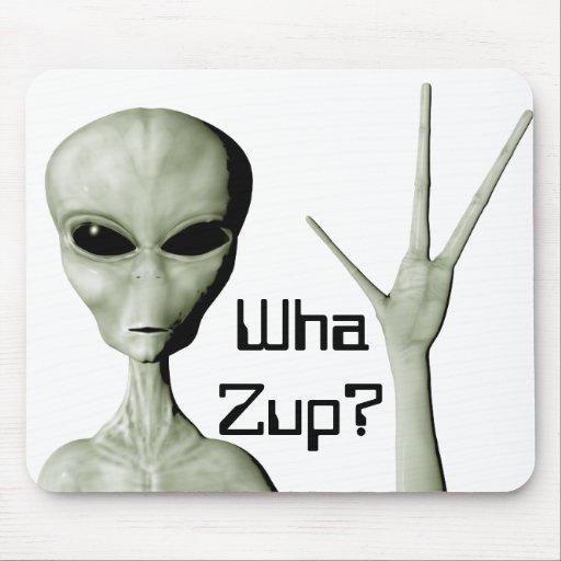 Alien greeting mousepad