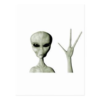 Alien greeting postcard