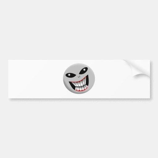 Alien Grey Bumper Stickers
