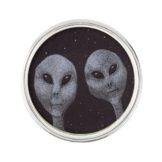 Alien Greys Lapel Pin