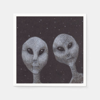 Alien Greys Napkin