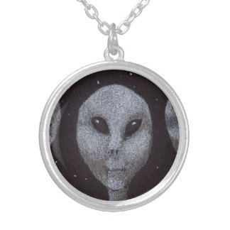 Alien Greys Silver Plated Necklace