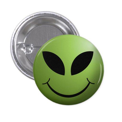 Alien Happy Smiley Face Pins