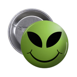 Alien Happy Smiley Face Buttons