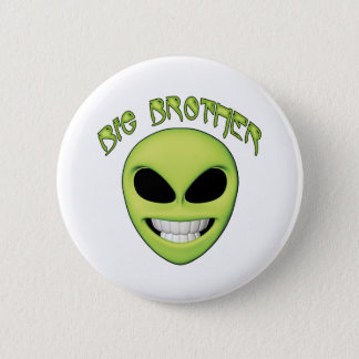 Alien Head Big Brother 2 Inch Round Button