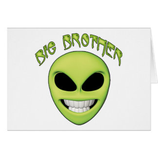 Alien Head Big Brother Note Card