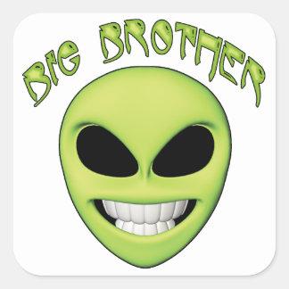 Alien Head Big Brother Square Sticker