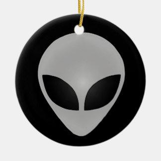 Alien Head Ceramic Ornament