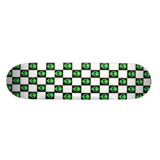 Alien Head Checkerboard Skateboard Deck